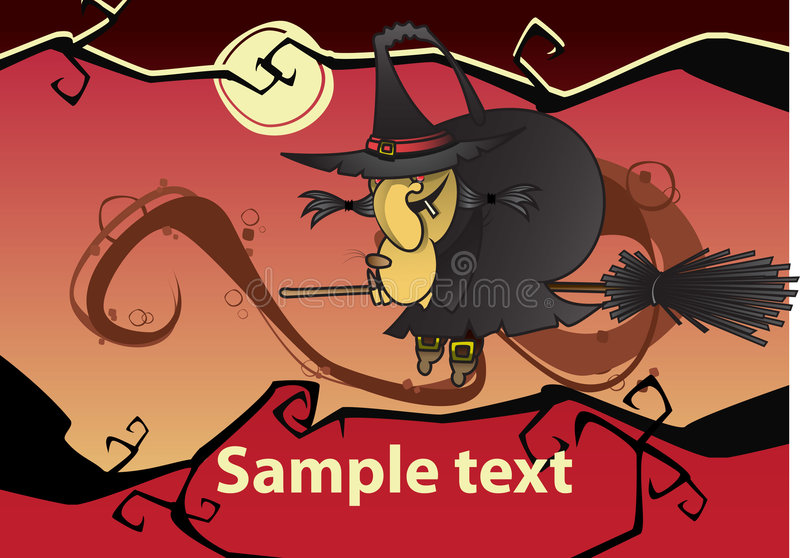 Download ведьма halloween иллюстрация вектора. иллюстрации насчитывающей состав - 6868255