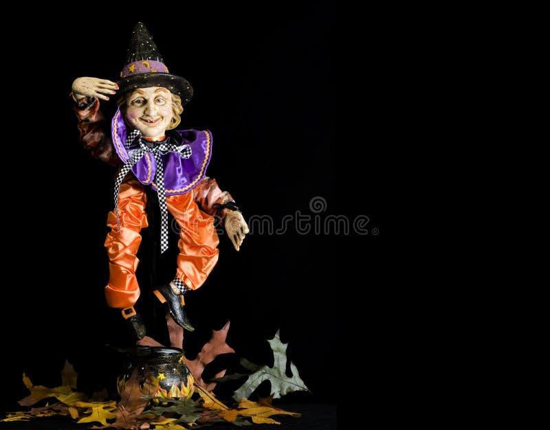 ведьма marionette halloween стоковое фото rf