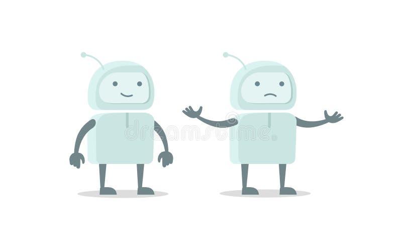 Везение характера чужеземца костюма пилота робота и комплект отказа Плоское clipart запаса иллюстрации вектора цвета бесплатная иллюстрация