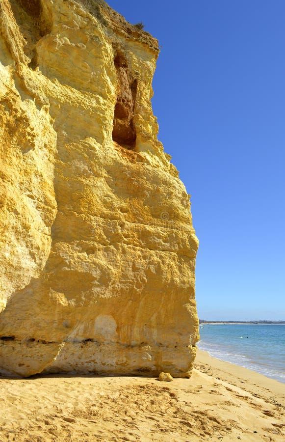 Вейл делает скалы spectacular пляжа Olival стоковые изображения rf