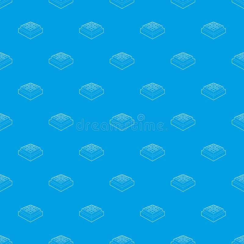Вектора картины бейсбола синь низкопробного безшовная бесплатная иллюстрация