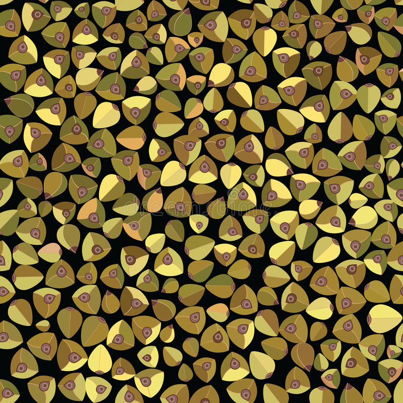 Вектора картины зеленой еды гречихи предпосылка безшовного органическая Тема сбора и вегетарианца хлопьев бесплатная иллюстрация