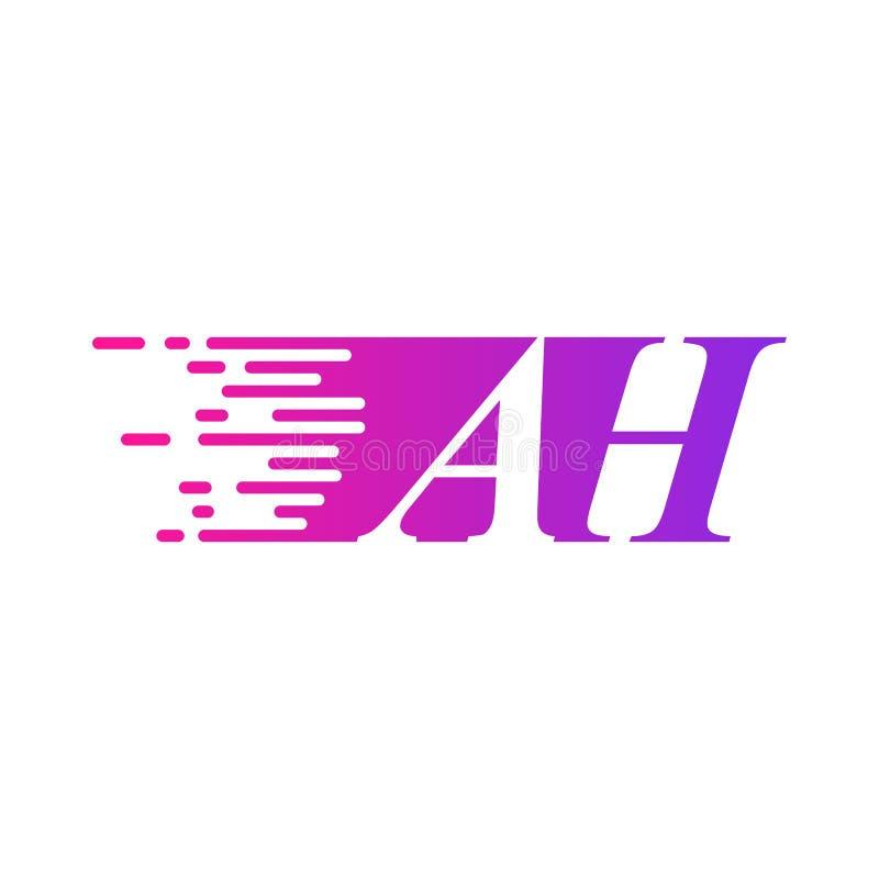 Вектора логотипа начального письма АХ цвет быстроподвижного пурпурны бесплатная иллюстрация