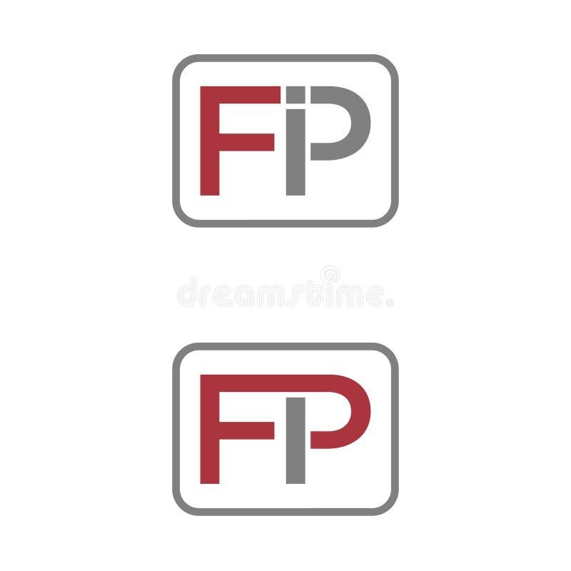 векторная иллюстрация комбинация начальная буква i и значок p логотип современный дизайн бесплатная иллюстрация