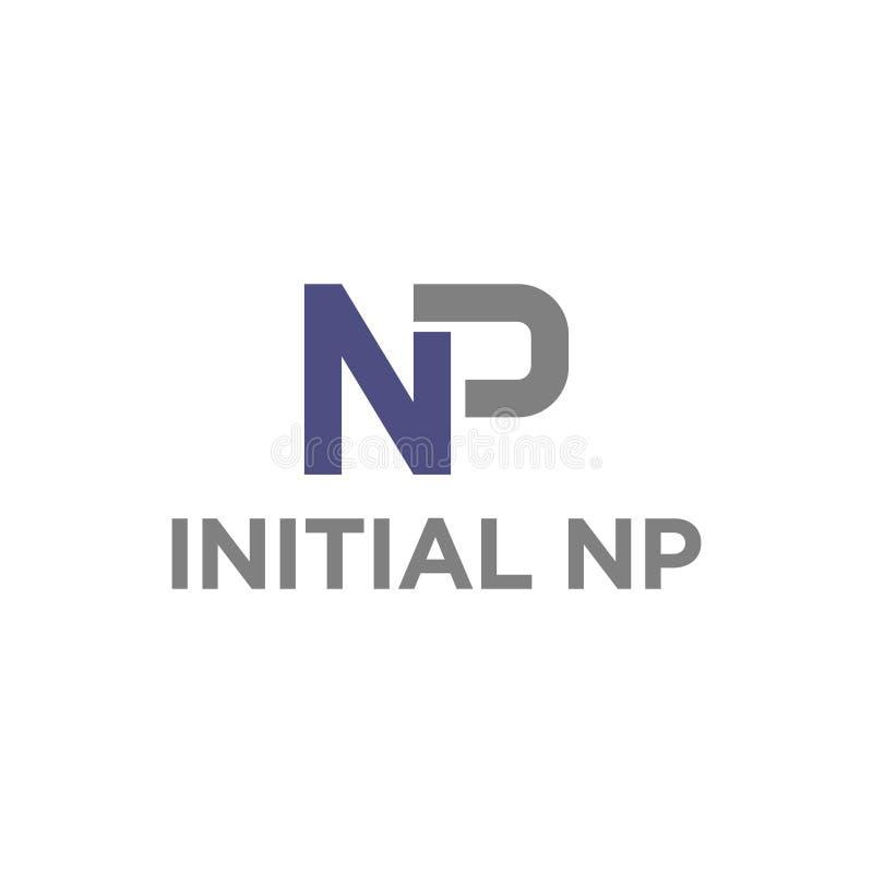 векторная иллюстрация комбинация оригинальная буква n и p значок логотип современный дизайн бесплатная иллюстрация
