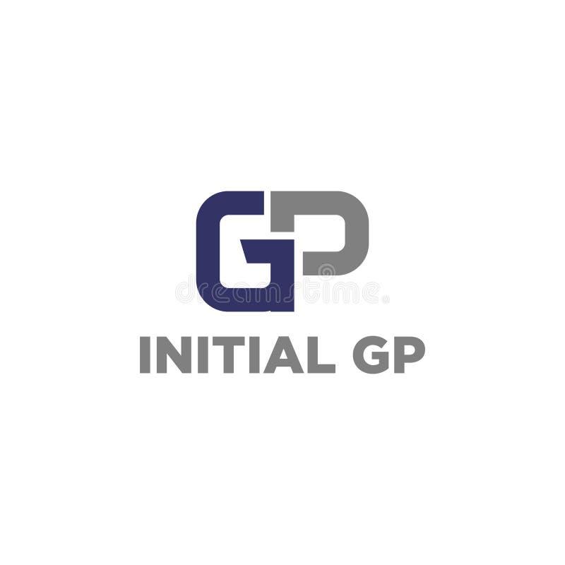 векторная иллюстрация комбинация первоначальный буква g и p значок логотип современный дизайн иллюстрация штока
