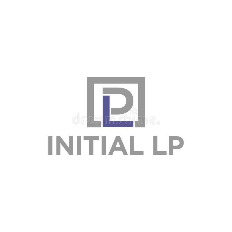 векторная иллюстрация комбинация первоначальный буква l и значок p логотип современный дизайн иллюстрация вектора