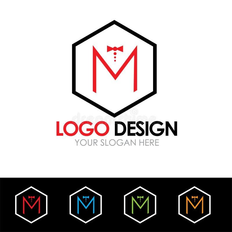 Векторная иллюстрация M Letter Logo Design Vector бесплатная иллюстрация
