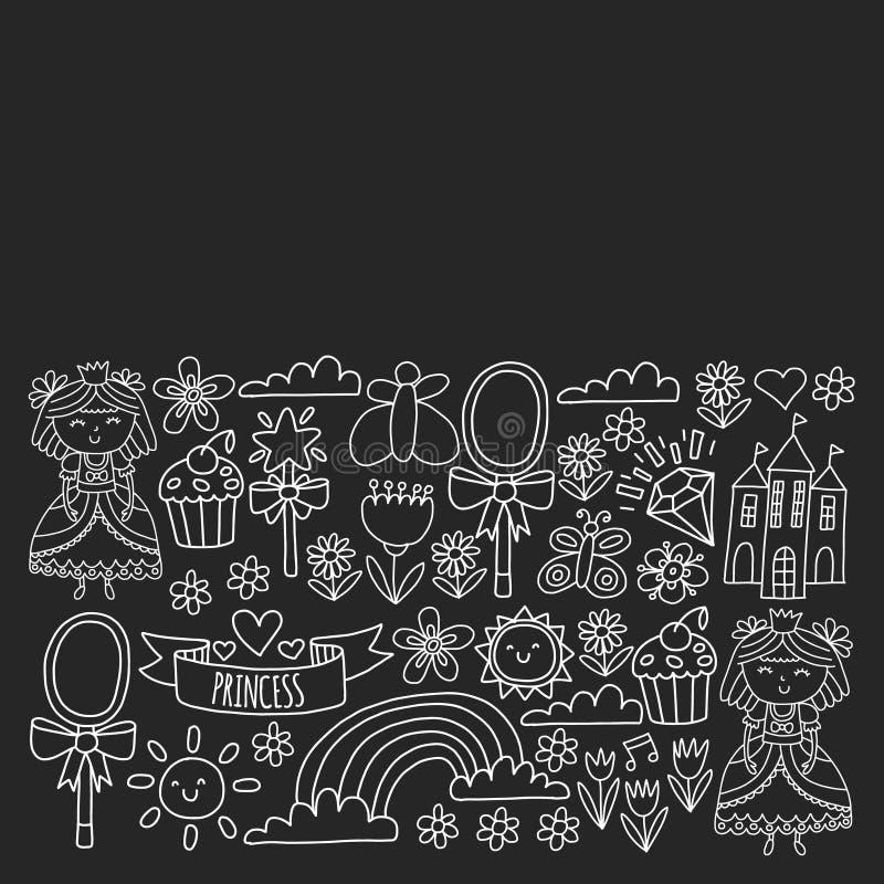 Векторная структура для маленьких девочек. Иллюстрация княгини на праРбесплатная иллюстрация