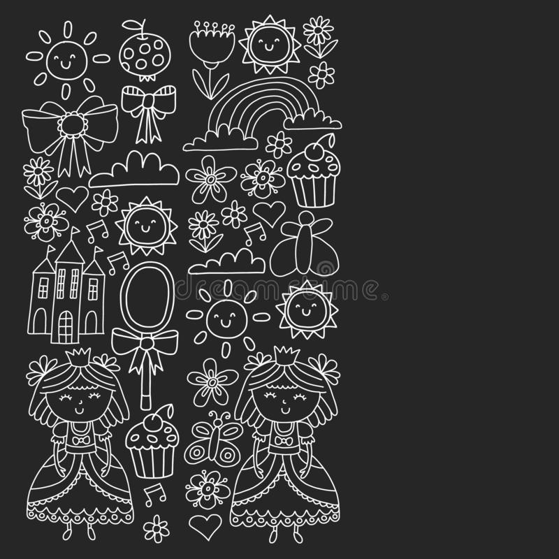 Векторная структура для маленьких девочек. Иллюстрация княгини на праРиллюстрация штока