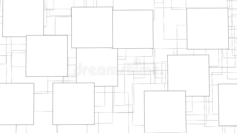 Векторный коллаж для фотографий Рамка рисунка Векторное поле пусто для книги не забудьте заметки иллюстрация штока