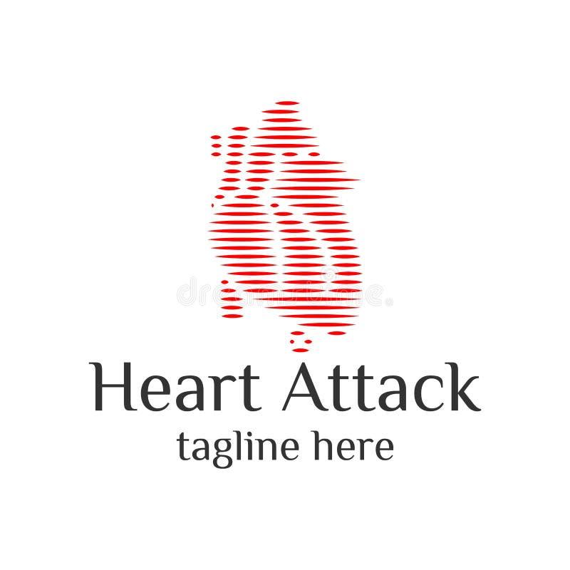 Векторный векторный логотип Hearth medic минималист для вашей компании иллюстрация штока