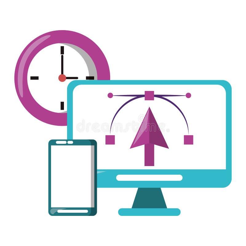 Векторы и инструменты графического дизайна цифровые бесплатная иллюстрация