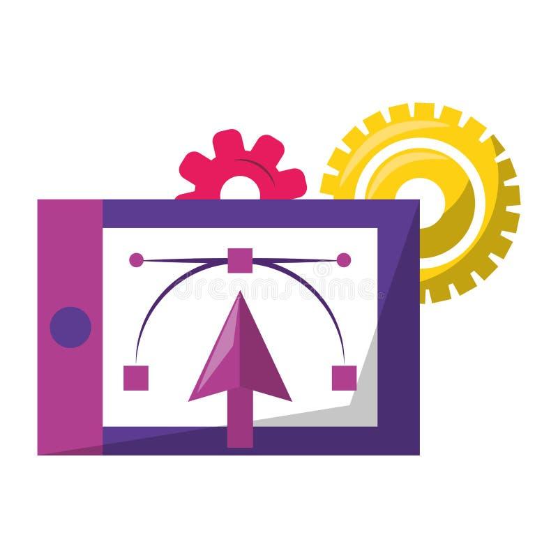 Векторы и инструменты графического дизайна цифровые иллюстрация штока