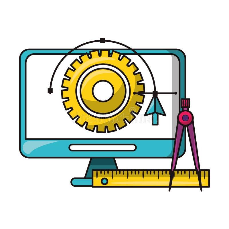 Векторы и инструменты графического дизайна цифровые иллюстрация вектора