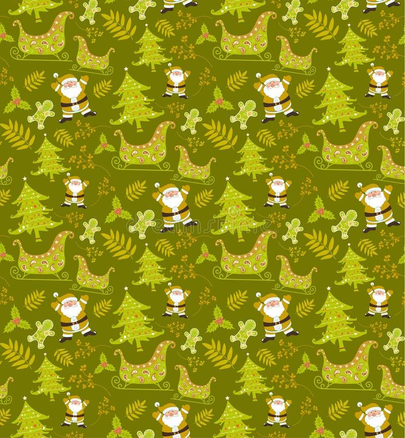 Векторы картины рождества безшовные иллюстрация штока