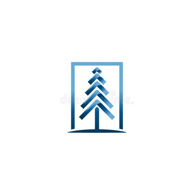 Векторы рождественской елки Творческий шаблон вектора дизайна логотипа рождества Идея логотипа дерева технологии бесплатная иллюстрация