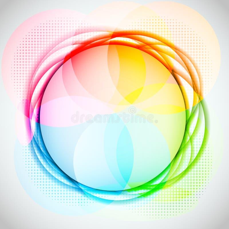 вектор абстрактного круга предпосылки цветастый иллюстрация штока