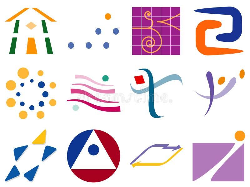 вектор абстрактного логоса иконы элементов конструкции различный иллюстрация вектора