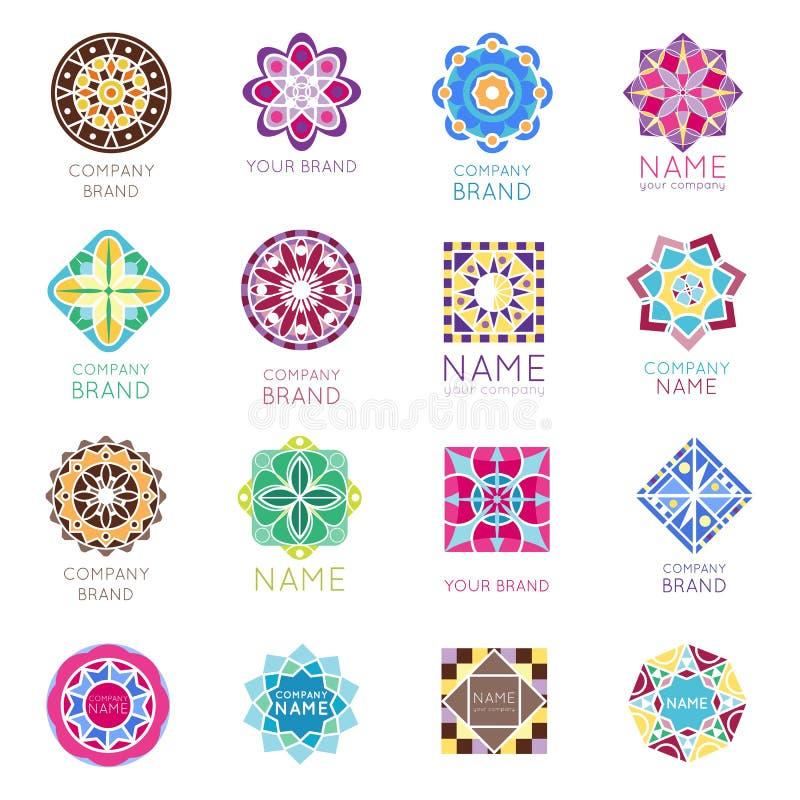 Вектор абстрактного триангулярного круга шаблона значка логотипа бренда компании геометрии калейдоскопа полигональной формы декор бесплатная иллюстрация