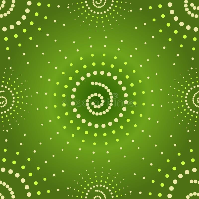 вектор абстрактной зеленой картины безшовный иллюстрация вектора