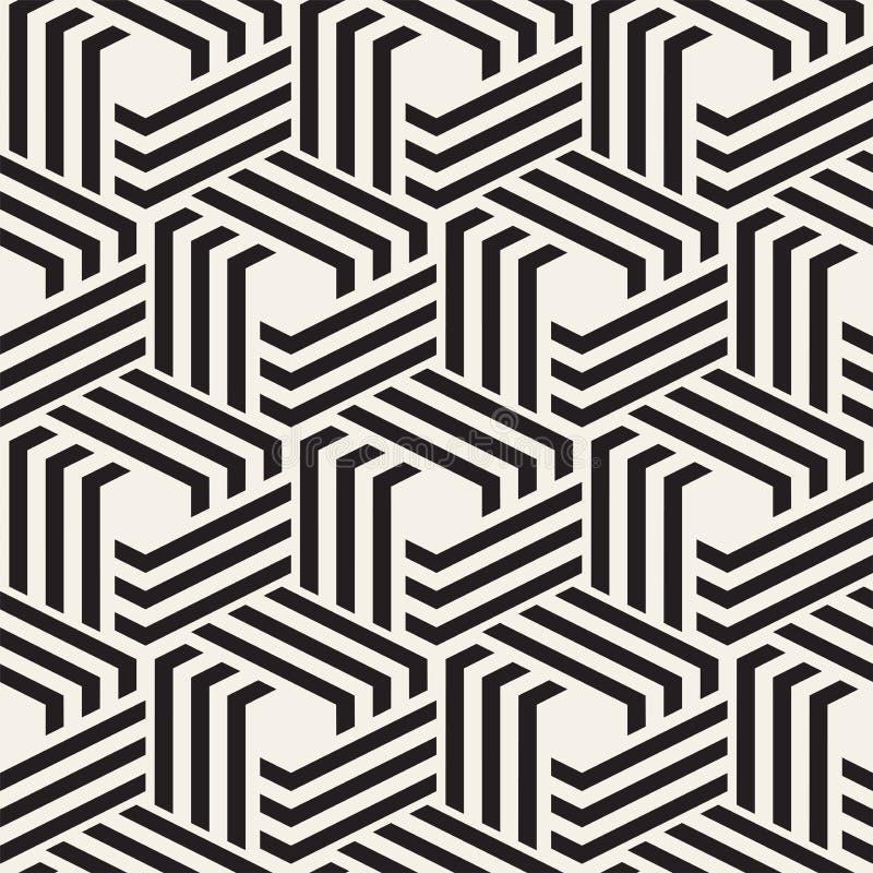 вектор абстрактной картины безшовный Современная стильная minimalistic текстура Повторять геометрическую предпосылку с шестиуголь бесплатная иллюстрация