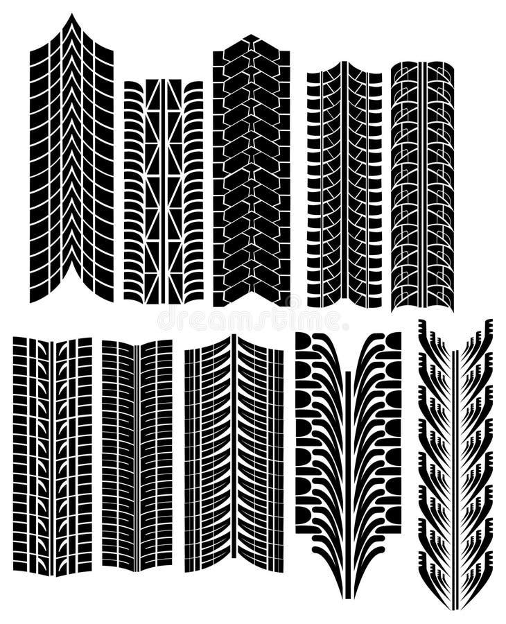 вектор автошины печатей иллюстрация штока