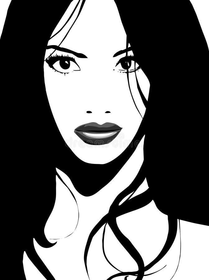 вектор азиатской девушки шикарный иллюстрация штока