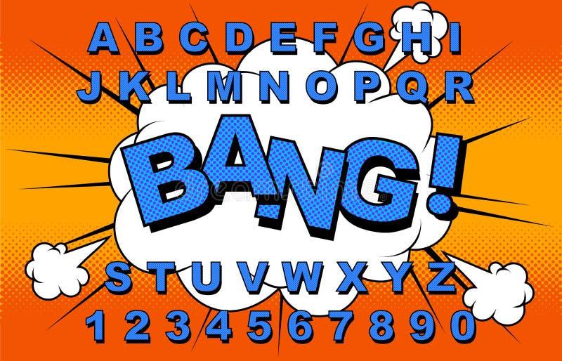 Вектор алфавита шуточный иллюстрация вектора
