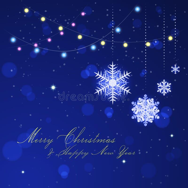 вектор архива eps рождества 8 предпосылок включенный Гирлянды праздника, украшения, снег иллюстрация штока