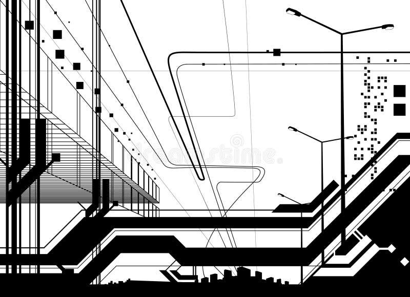 вектор архитектурноакустической конструкции самомоднейший бесплатная иллюстрация