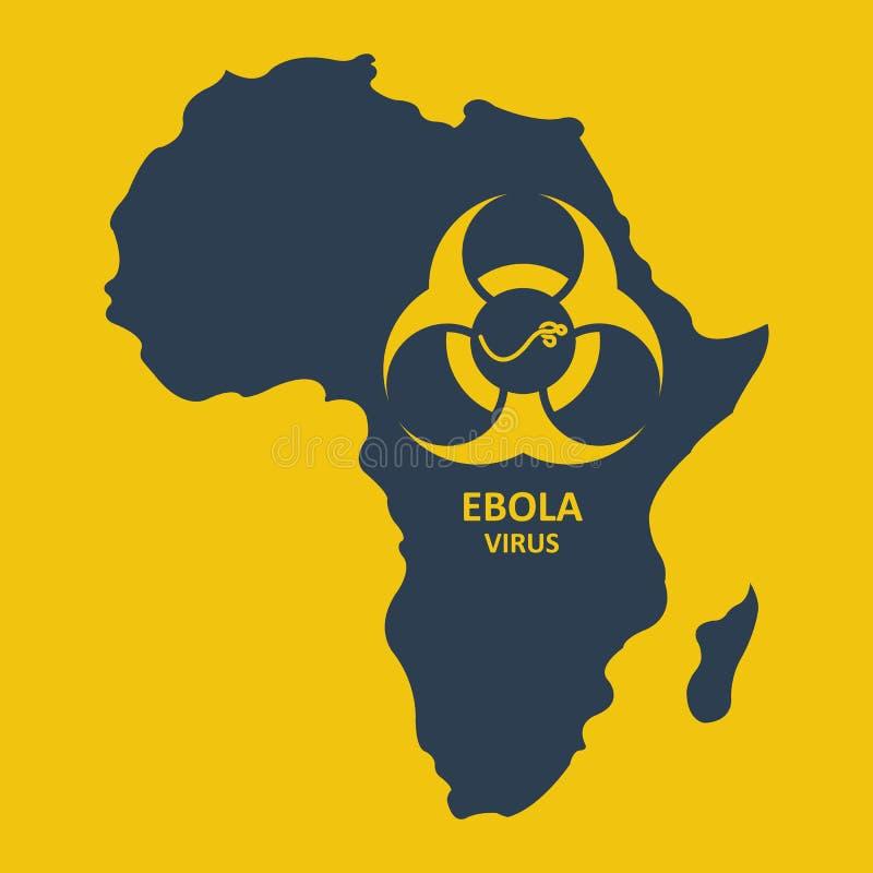 Вектор Африка и ирус Эбола иллюстрация штока