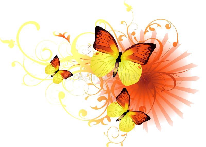 вектор бабочки предпосылки бесплатная иллюстрация
