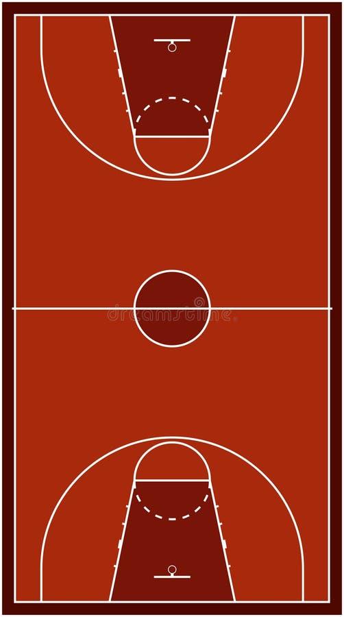 вектор баскетбольной площадки иллюстрация штока
