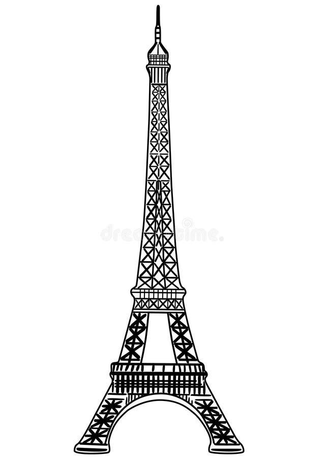 вектор башни иллюстрации eiffel иллюстрация вектора