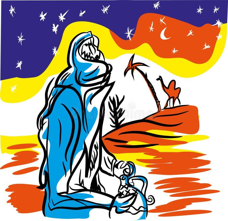 Вектор бедуина иллюстрация вектора