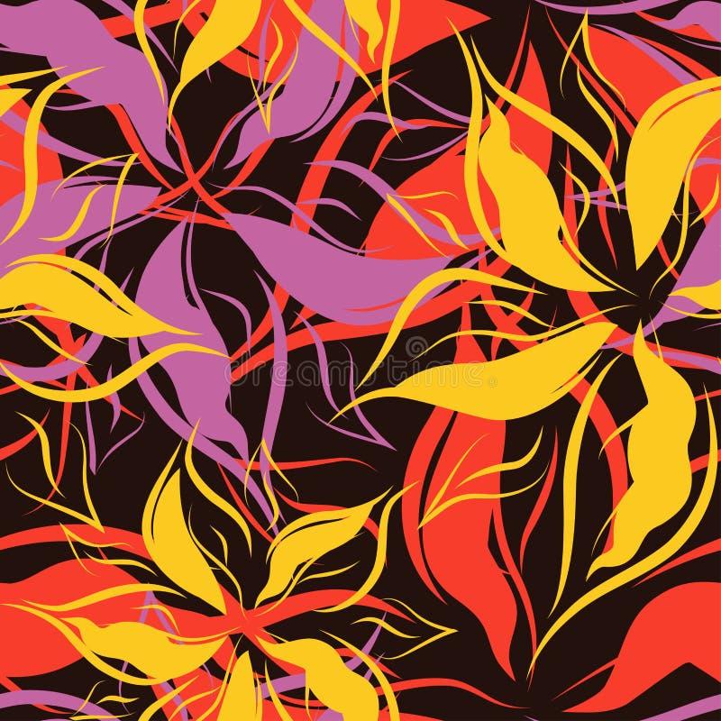 Вектор. Безшовная флористическая картина бесплатная иллюстрация