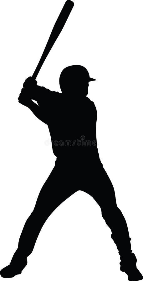 вектор бейсболиста стоковая фотография