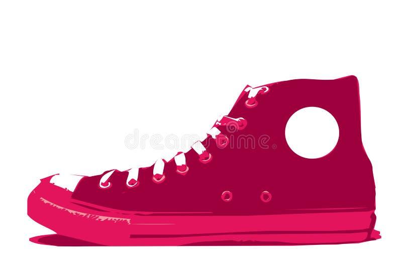 вектор ботинка convers бесплатная иллюстрация