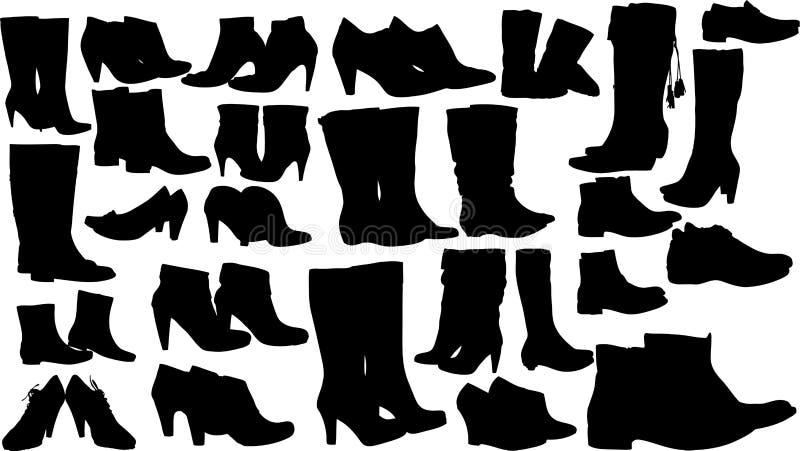 Вектор ботинок женщин способа бесплатная иллюстрация