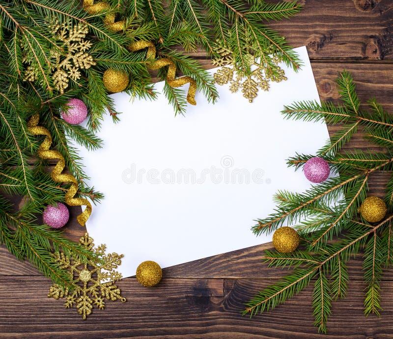 вектор бумаги письма иллюстрации падуба праздника ели габарита рождества стоковые изображения rf
