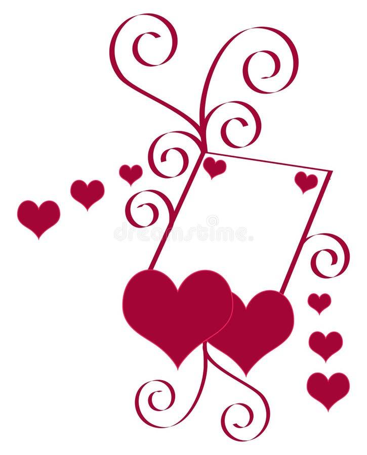 вектор Валентайн иллюстрации сердца иллюстрация штока