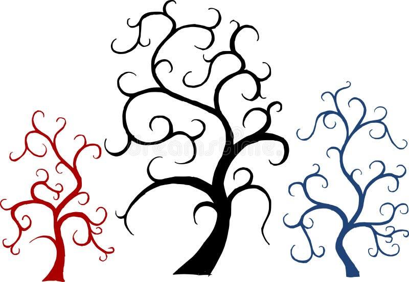 вектор валов ornamental установленный иллюстрация вектора