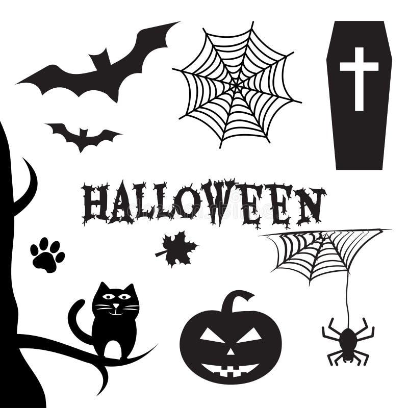 вектор вампира знахарки мрачного жнеца иллюстрации halloween установленный Все Eve Hallows, Eve всех Святых также вектор иллюстра бесплатная иллюстрация