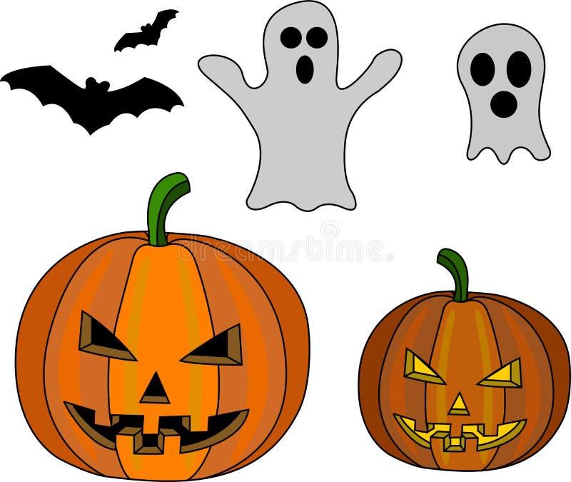 вектор вампира знахарки мрачного жнеца иллюстрации halloween установленный стоковая фотография rf