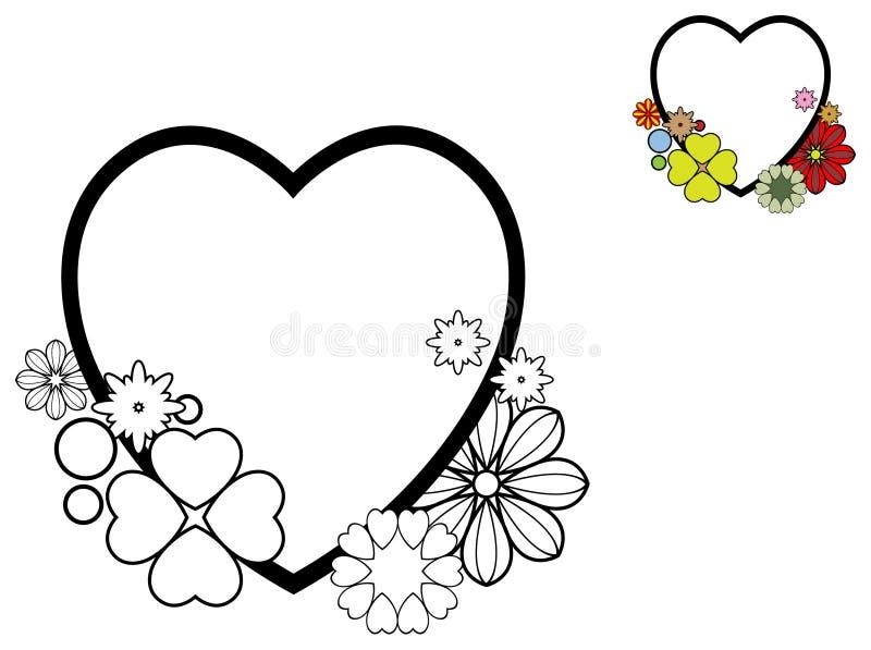 вектор Валентайн формы картины s сердца подарка рамки конструкции дня карточки безшовный бесплатная иллюстрация