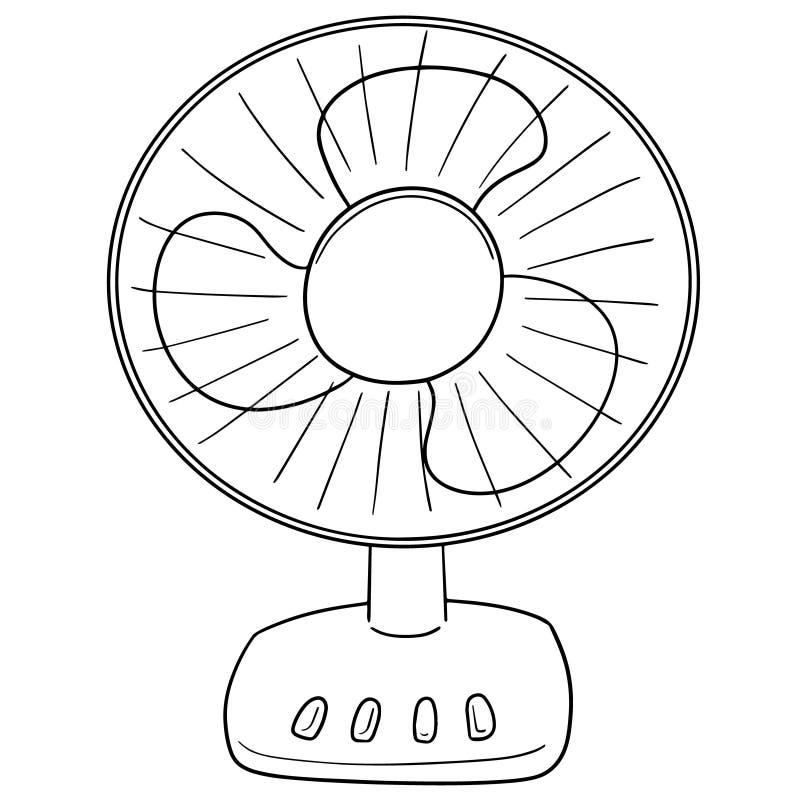 Вектор вентилятора иллюстрация штока