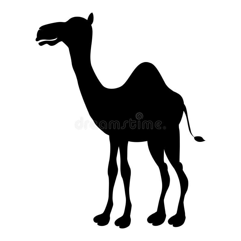 Вектор - верблюд значка верблюда силуэта шаржа милый смешной иллюстрация вектора