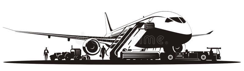 вектор взлётно-посадочная дорожки самолета иллюстрация вектора