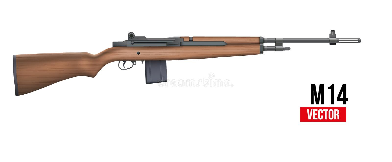 Вектор винтовки M14 иллюстрация вектора